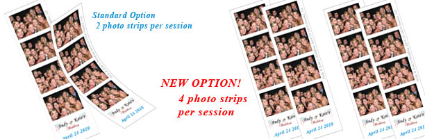 4 Photo Booth photo strips per session