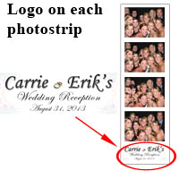 Logo on photostrip is included